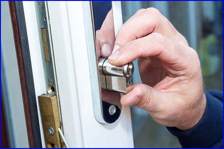 A uPVC Door Cylinder Lock