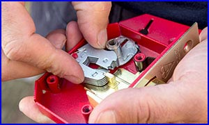 Locksmith Holding a Mortice Lock