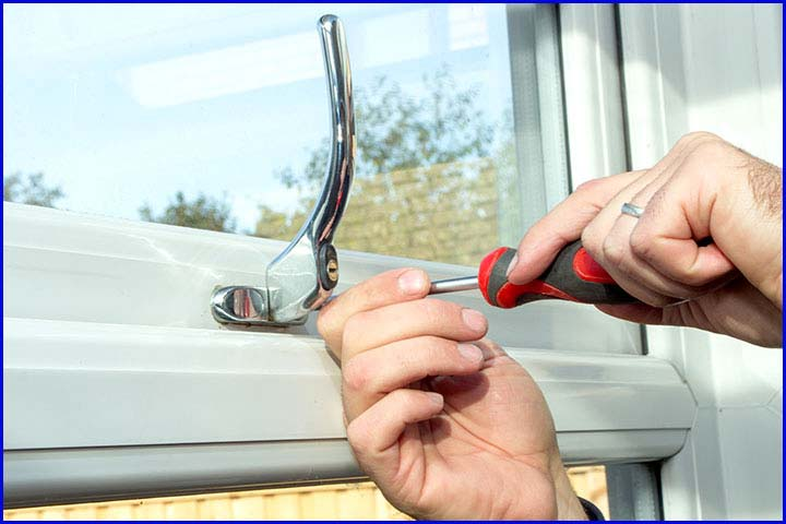 uPVC Window Handle Being Fitted