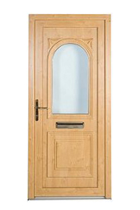 Pine Effect uPVC Front Door