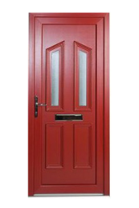Red uPVC Front Door