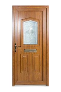 Timber Effect uPVC Door