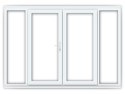 Wide uPVC French Doors with Side Panels