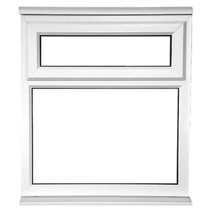 uPVC Casement Window with Top Awning