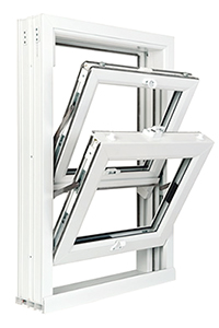 Opened uPVC Sash Window