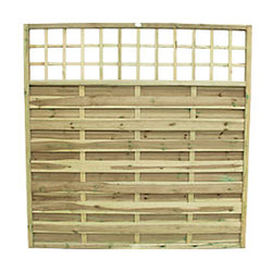 Fencing Panel with Lattice