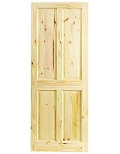 Knotty Pine 4 Panel
