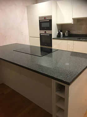 Kitchen Counter Aisle and Units Fitted in Edinburgh