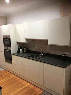 Kitchen Units and Sink Fitted in Edinburgh