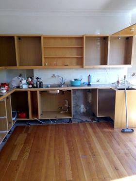 Old Kitchen Being Dismantled in Edinburgh