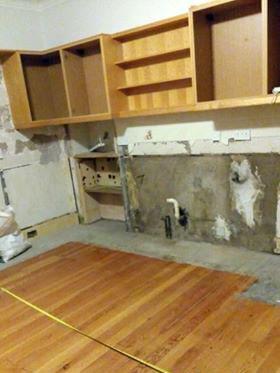 Old Kitchen Removed in Edinburgh