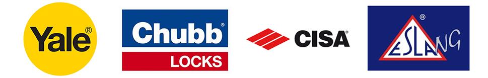 Cisa Chubb Yale and Esla NG Lock Logos