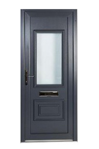 Grey uPVC Front Door
