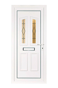 House uPVC Door with Glass Panels