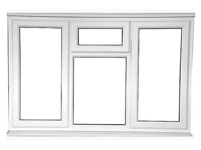 Left and Right Opening uPVC Casement Window with Awning