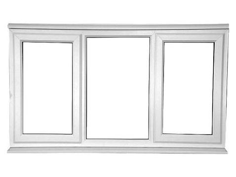 Left and Right Opening uPVC Casement Window without Awning