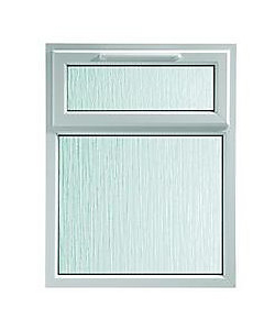 Obscure Glass uPVC Window with Top Awning