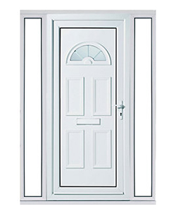 uPVC Door with Glass Panel Each Side
