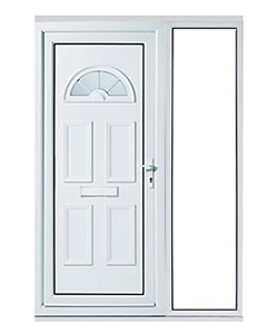 uPVC Front Door with Large Right Glass Panel