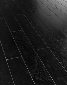 Herringbone Black Oak Real Wood Top Layer Engineered Wood Flooring
