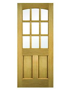 Multi Panel Glazed Oak Veneer