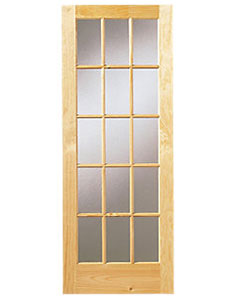 Pine Multi Panel Glazing