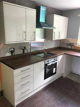 Kitchen fitting in the Borders